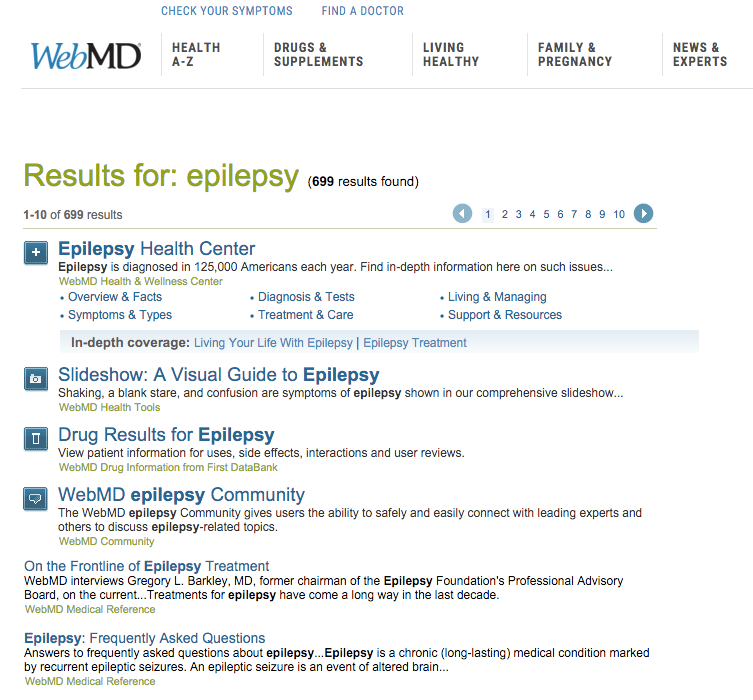 epilepsy dad webmd research