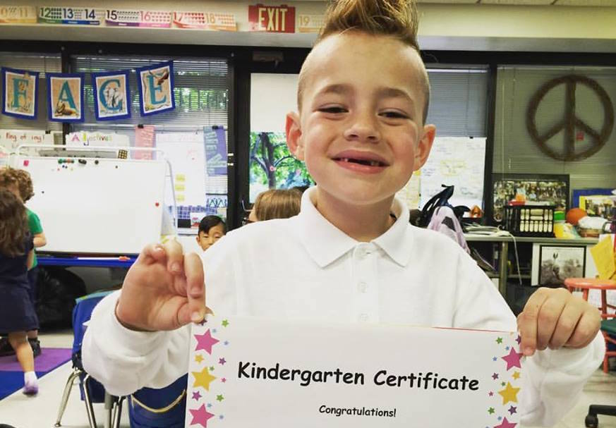epilepsy dad graduation kindergarten