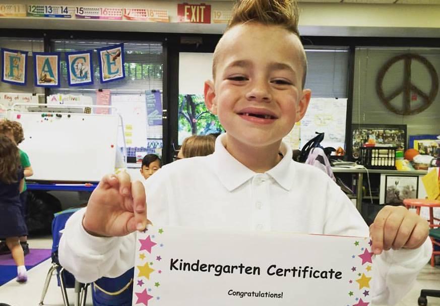 epilepsy dad graduation kindergarten